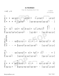 From the Beginning Until Now-Numbered-Musical-Notation-Preview-1