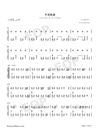 Iron Box of an Island-Numbered-Musical-Notation-Preview-1