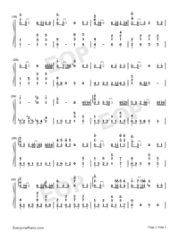 Spring Flowers Blossoming-Numbered-Musical-Notation-Preview-2