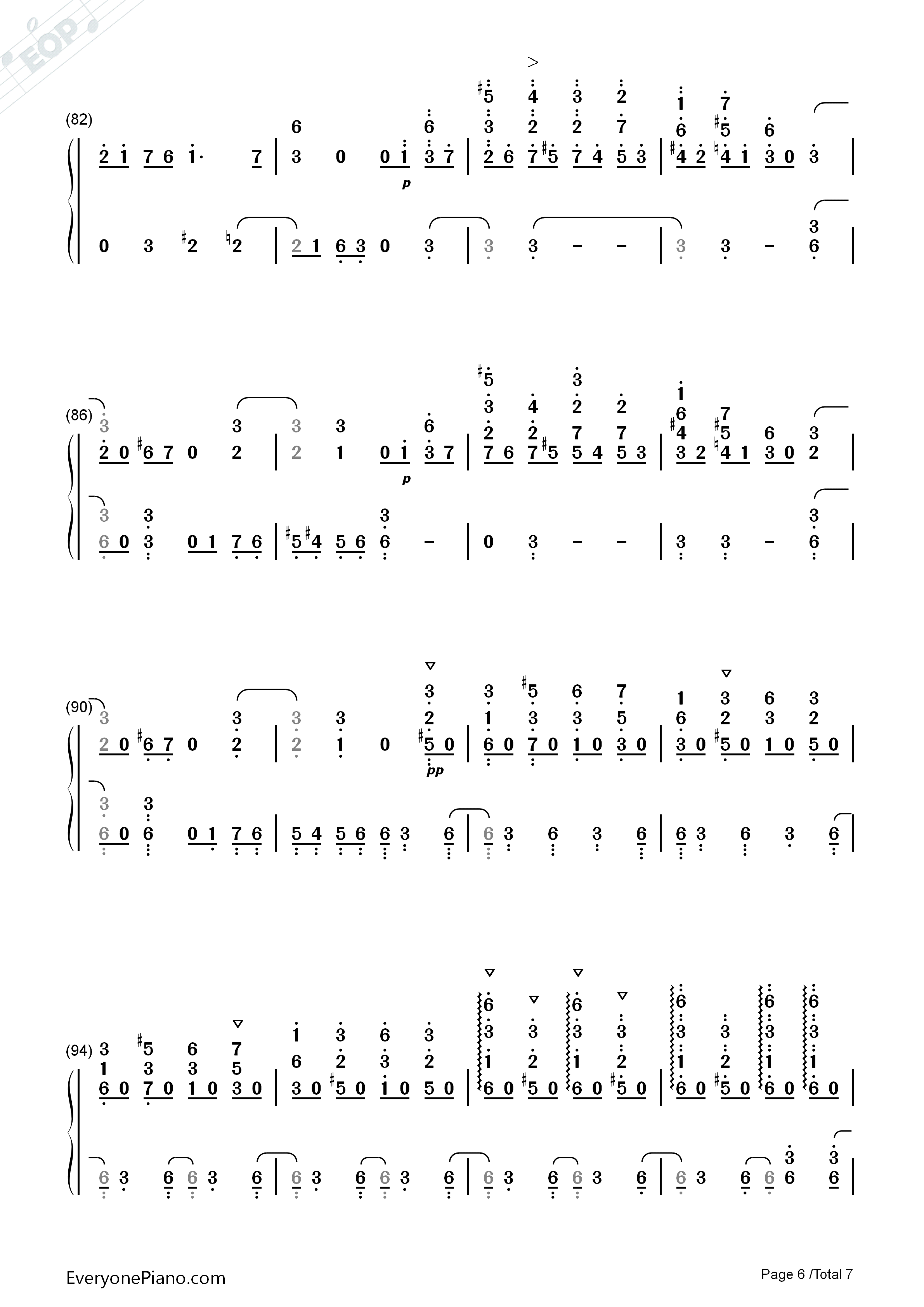 June Barcarolle Numbered Musical Notation Preview 6