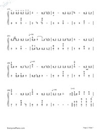 June Barcarolle Numbered Musical Notation Preview 2