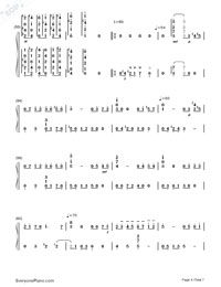 June Barcarolle Numbered Musical Notation Preview 4