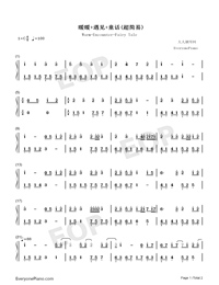 Warm-Encounter-Fairy Tale-Numbered-Musical-Notation-Preview-1
