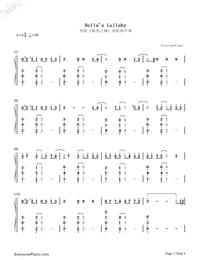 Bella's Lullaby両手略譜プレビュー1