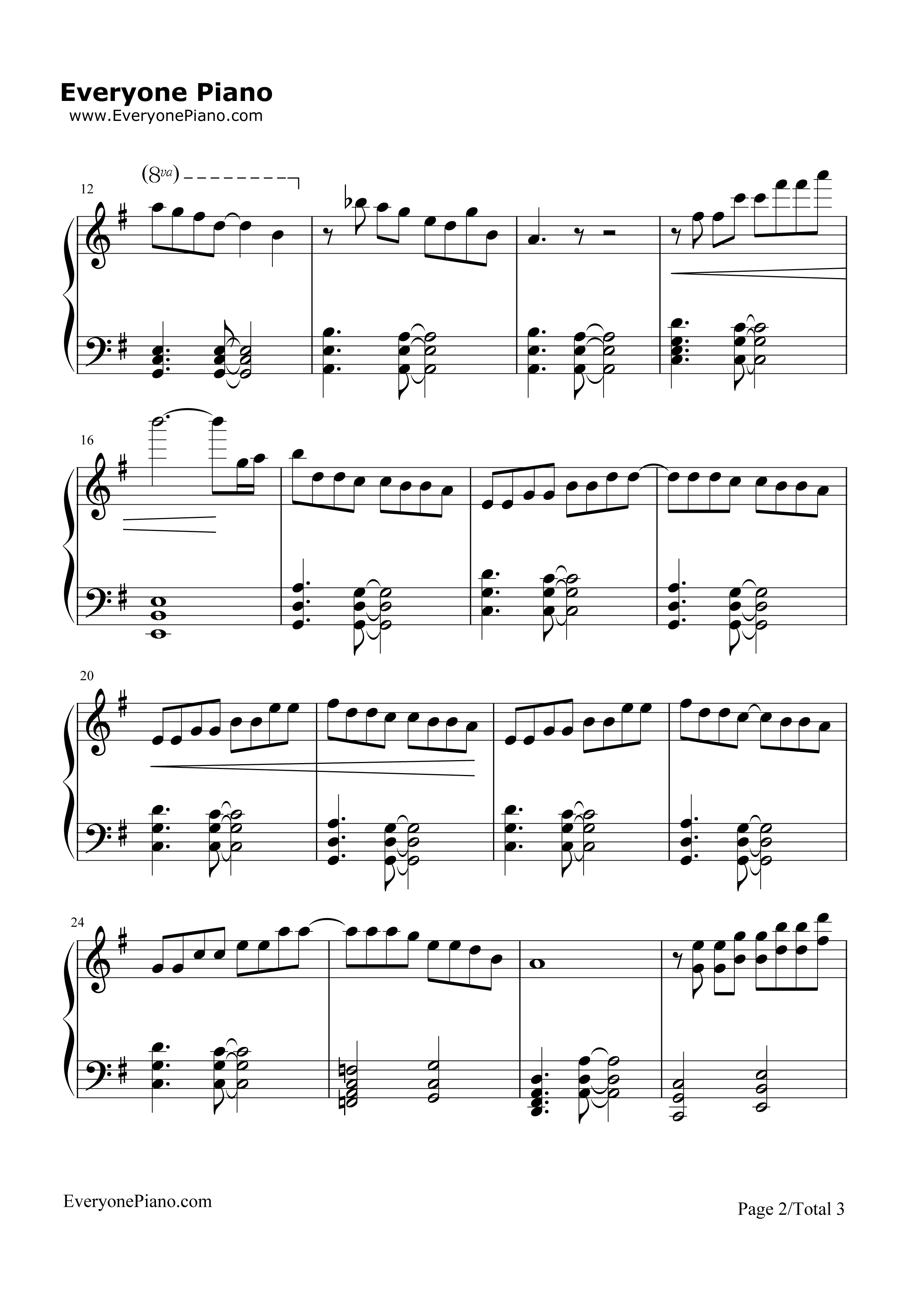 Vanilla twilight piano chords