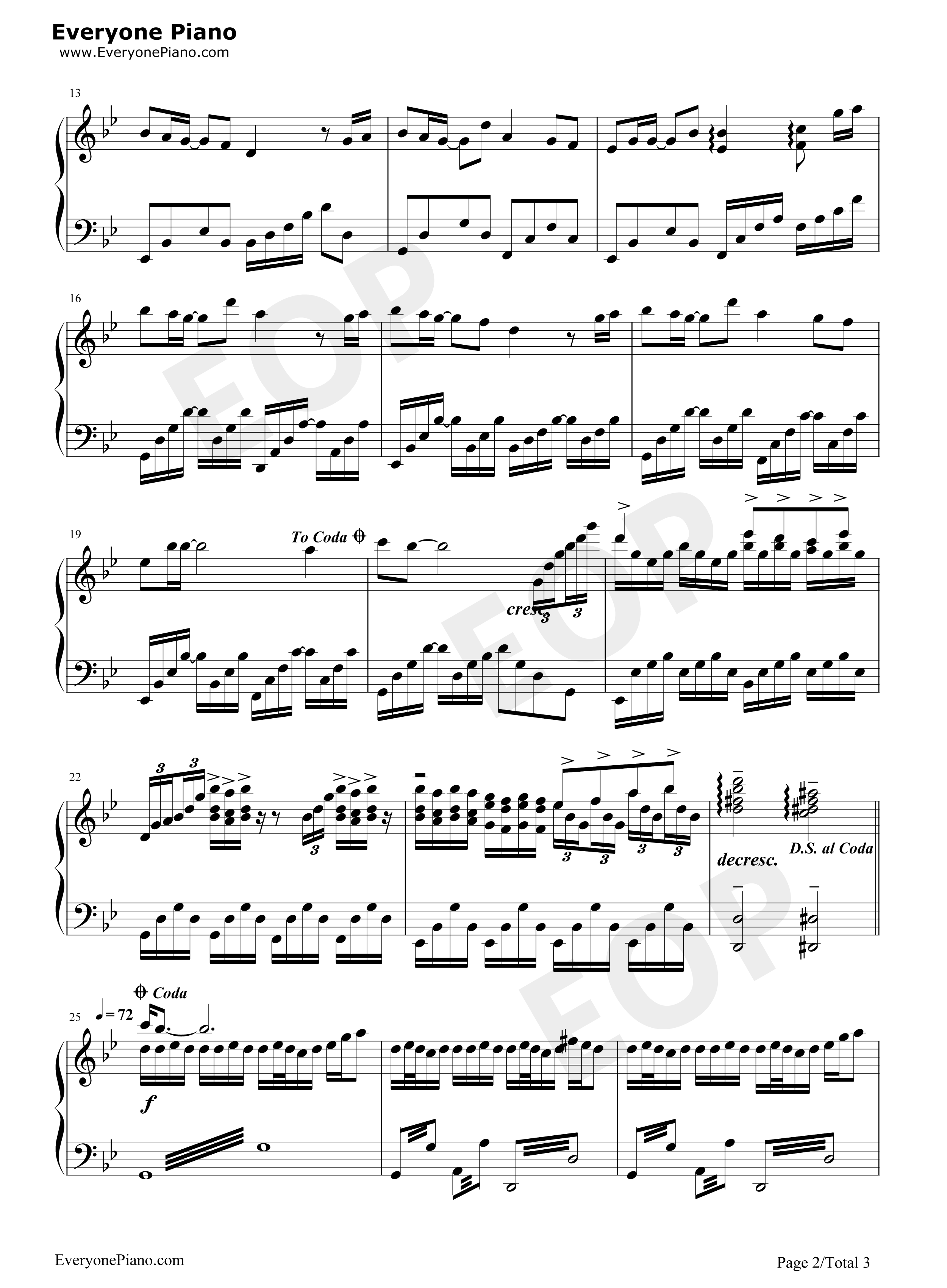 Thousand years of love stave preview 2 free piano sheet music listen now print sheet thousand years of love stave preview 2 hexwebz Image collections