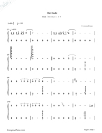 Ballade-ENCORE-Numbered-Musical-Notation-Preview-1