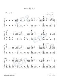 Kiss The Rain-Original Version-Numbered-Musical-Notation-Preview-1