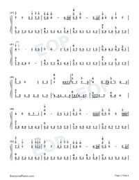 Kiss The Rain-Original Version-Numbered-Musical-Notation-Preview-3