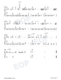 Kiss The Rain-Original Version-Numbered-Musical-Notation-Preview-4