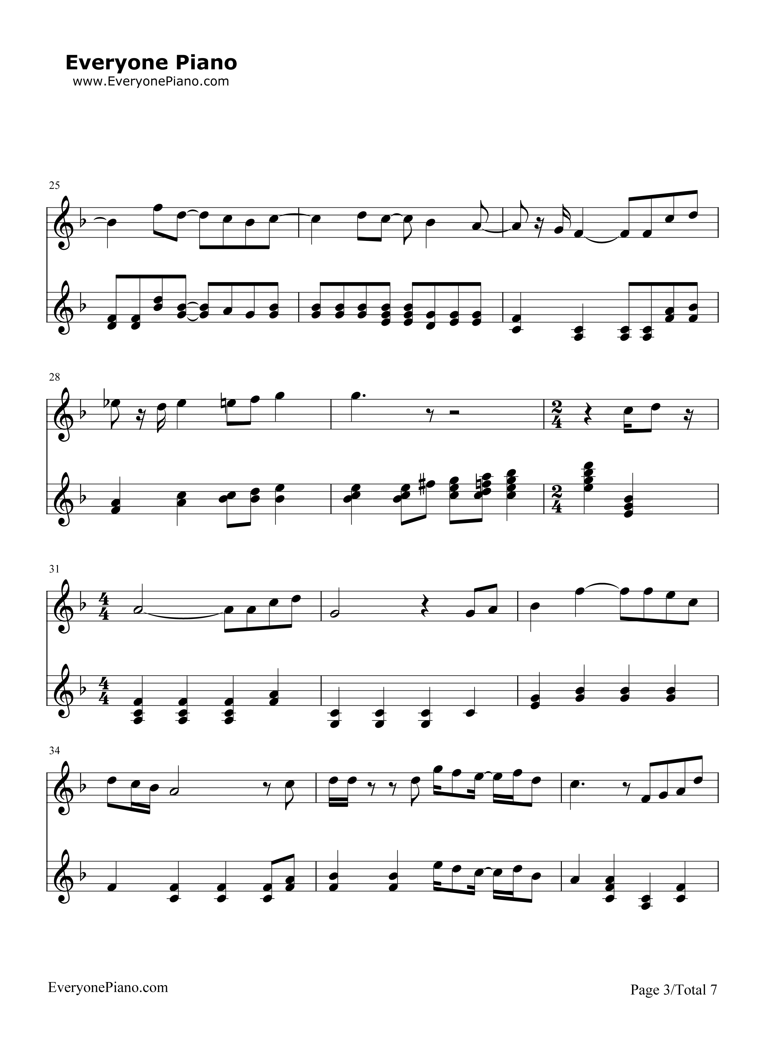Free Hey Jude-The Beatles Sheet Music Preview 3 Images - Frompo