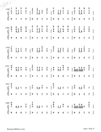 Pachelbel's Canon-Original Version-Canon in D-Numbered-Musical-Notation-Preview-7