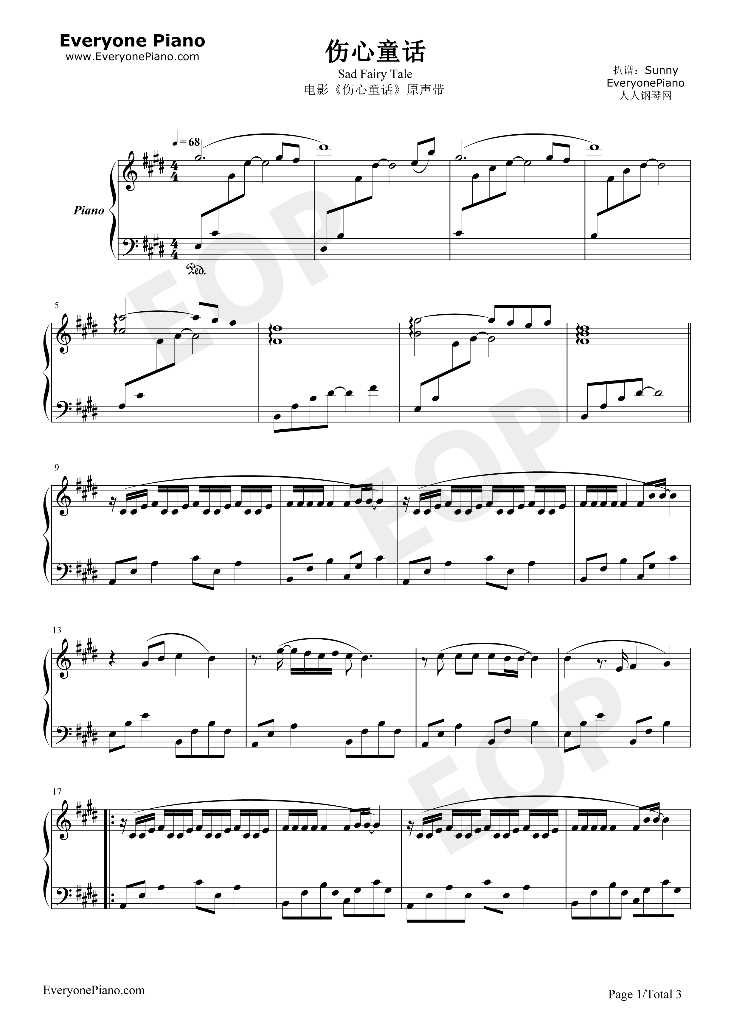 Sad fairy tale stave preview 1 free piano sheet music piano chords listen now print sheet sad fairy tale stave preview 1 hexwebz Gallery