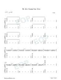 We Are Young-Numbered-Musical-Notation-Preview-1