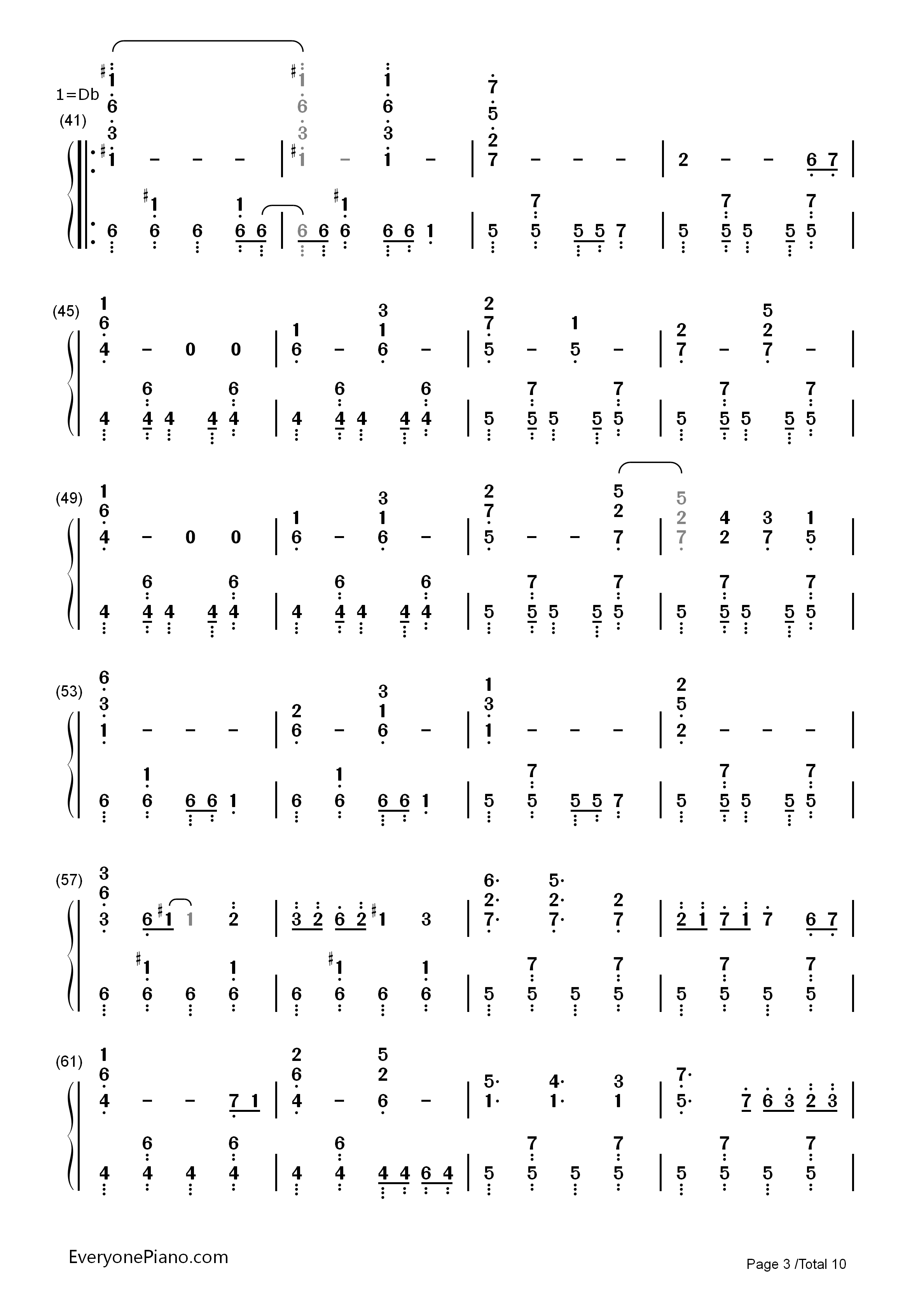 Hatsune Miku no Shoushitsu Numbered Musical Notation Preview 3