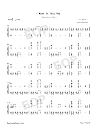 I Want It That Way-Numbered-Musical-Notation-Preview-1