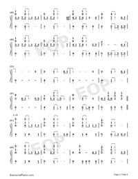 I Want It That Way-Numbered-Musical-Notation-Preview-3