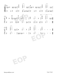 I Want It That Way-Numbered-Musical-Notation-Preview-4