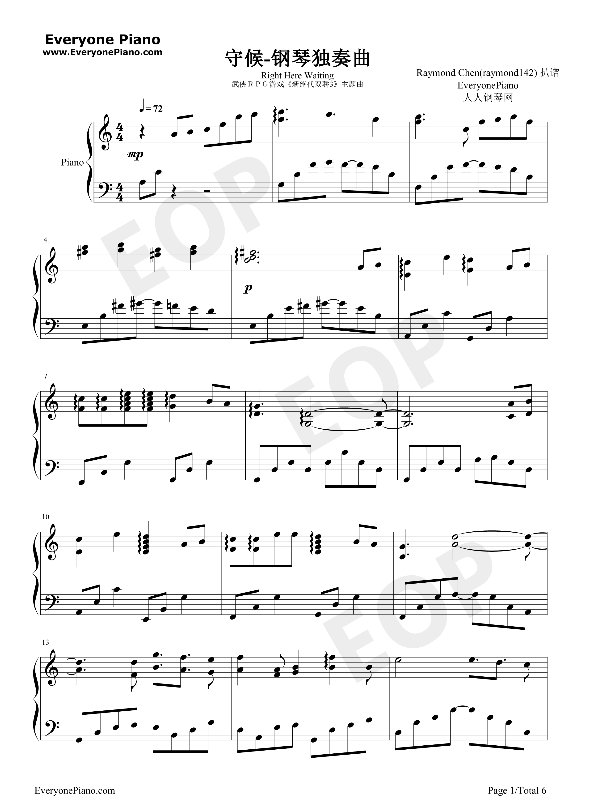 right here waiting for you sheet music pdf