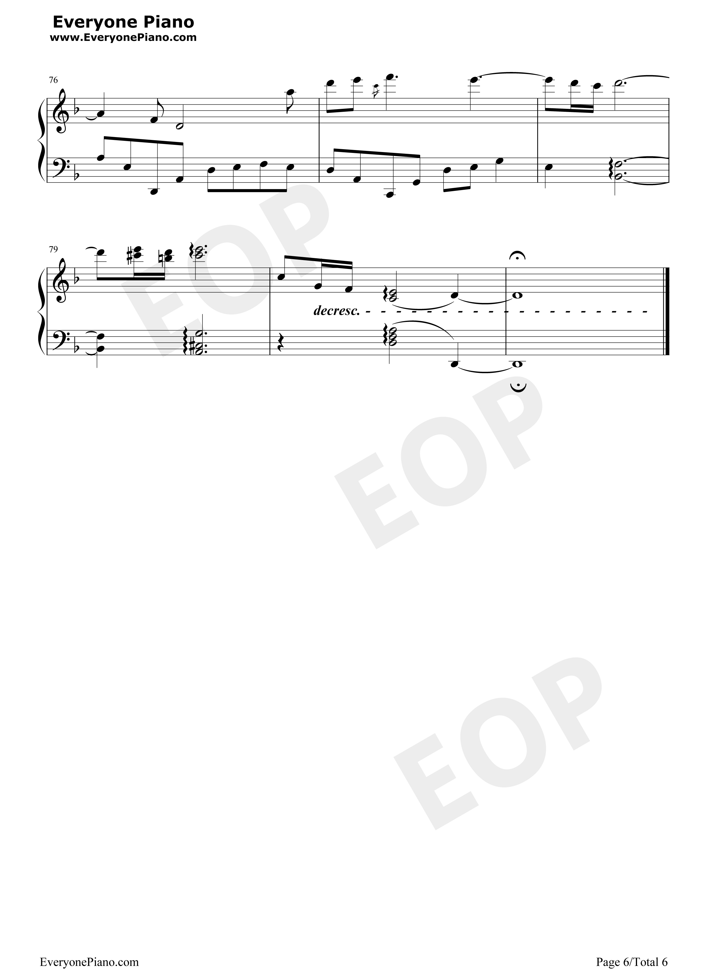 Right Here Waiting-TTH3SP Stave Preview 6-Free Piano Sheet Music u0026 Piano Chords