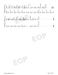 Heal The World - Michael Jackson-Numbered-Musical-Notation-Preview-2