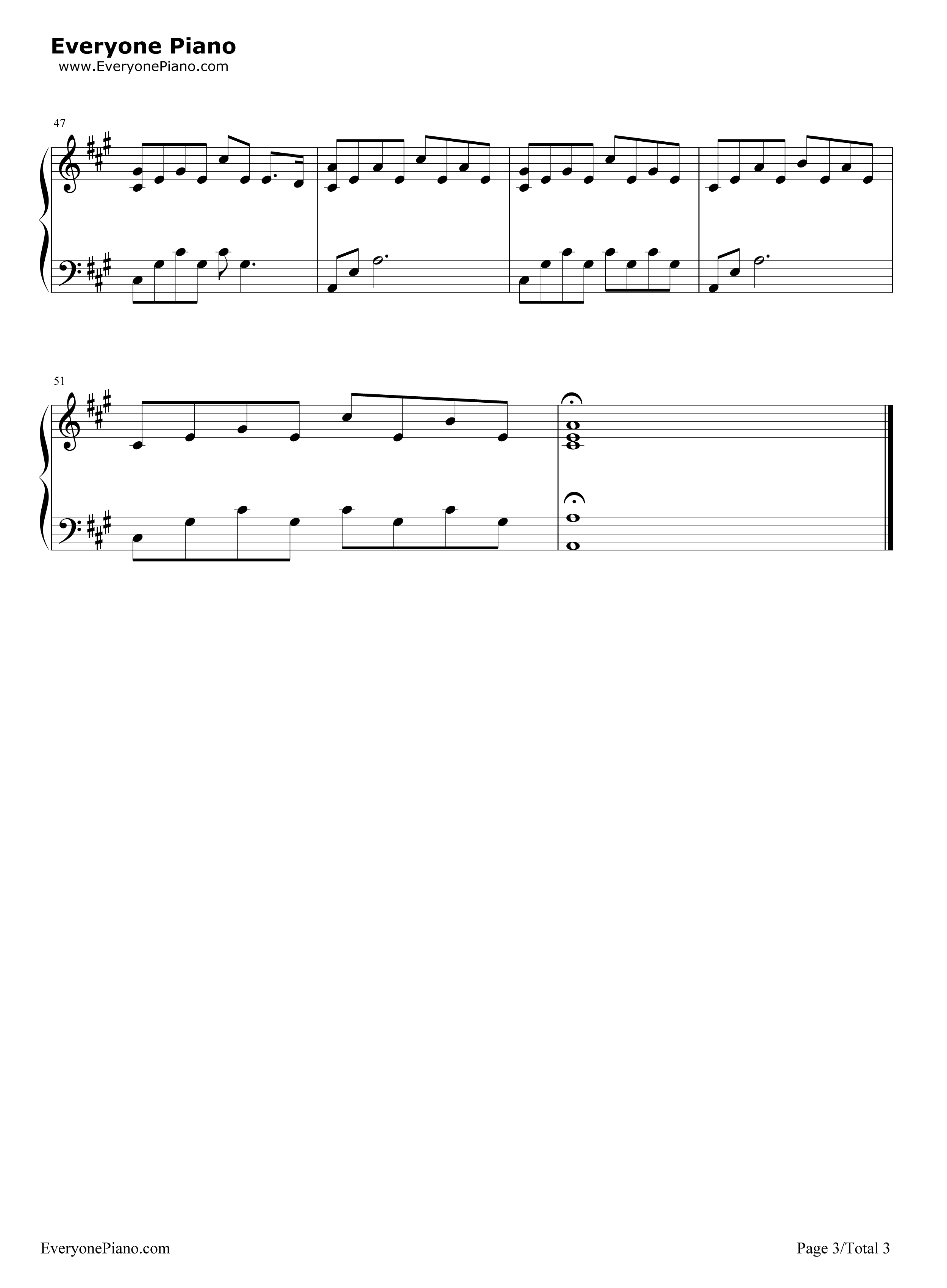 My Immortal-Evanescence Stave Preview 3-Free Piano Sheet Music u0026 Piano Chords