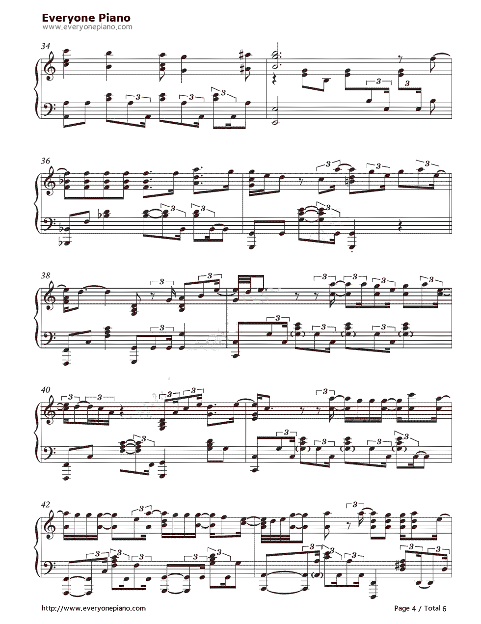When i was your man bruno mars stave preview 4 free piano sheet listen now print sheet when i was your man bruno mars stave preview 4 hexwebz Images