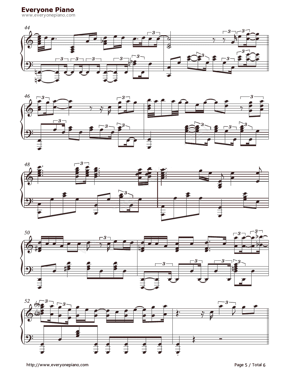 When I Was Your Man-Bruno Mars Stave Preview 5-Free Piano Sheet Music u0026 Piano Chords