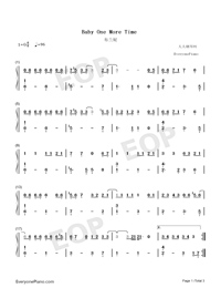 Baby One More Time - Britney Spears Free Piano Sheet Music ...