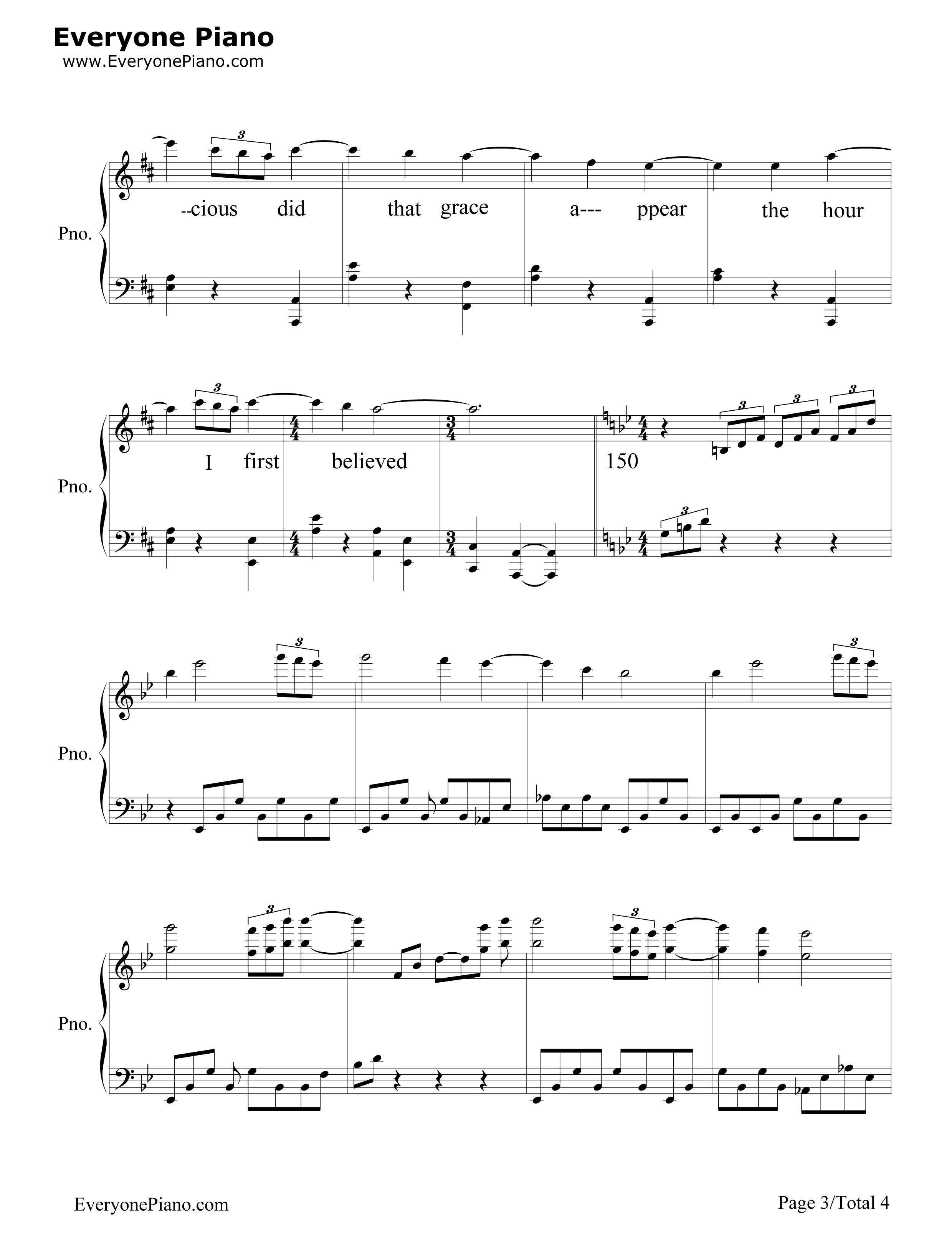 Amazing grace john newton stave preview 3 free piano sheet music listen now print sheet amazing grace john newton stave preview 3 hexwebz Image collections