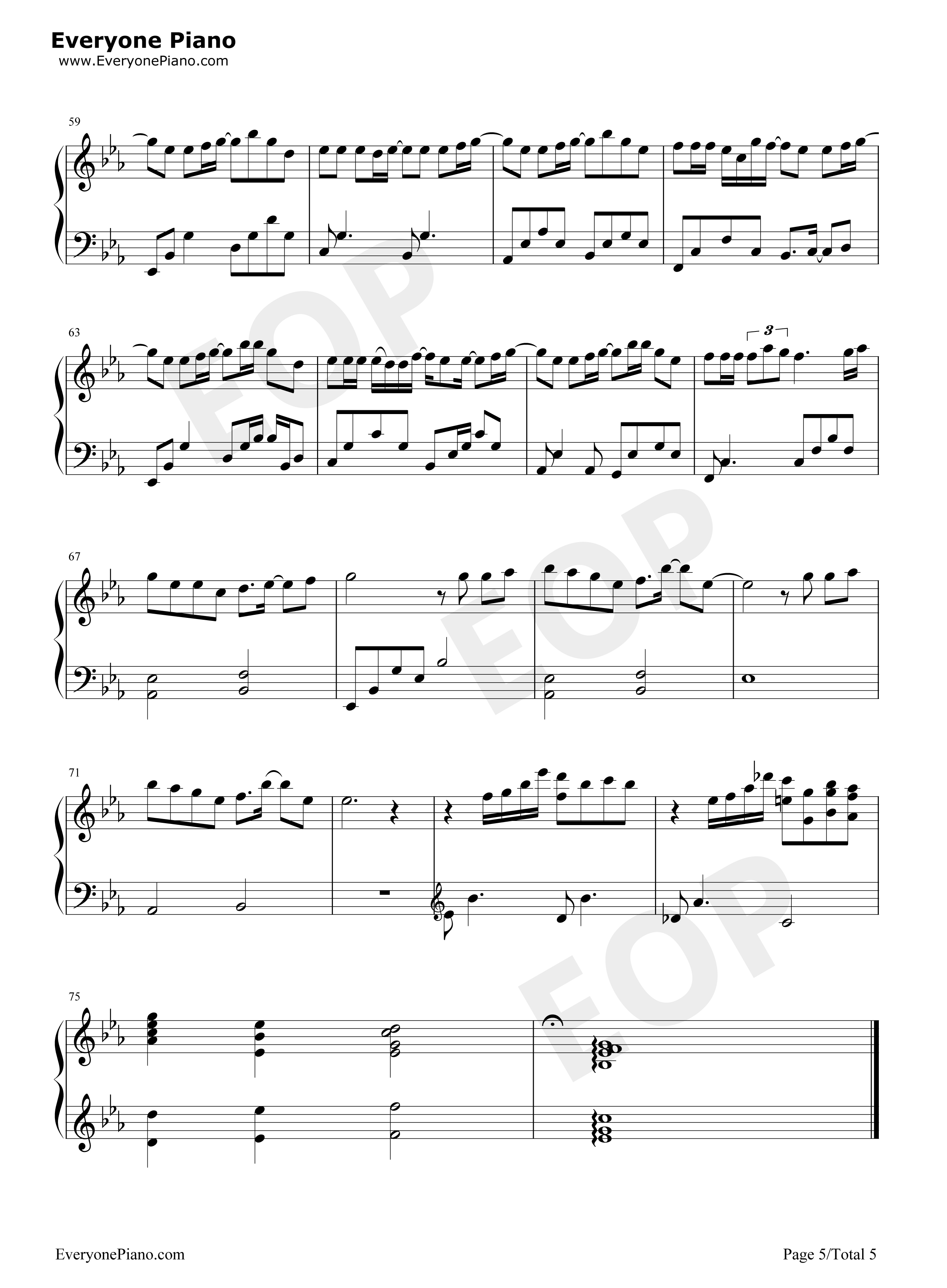 Happy breakup stave preview 5 free piano sheet music piano chords listen now print sheet happy breakup stave preview 5 hexwebz Gallery