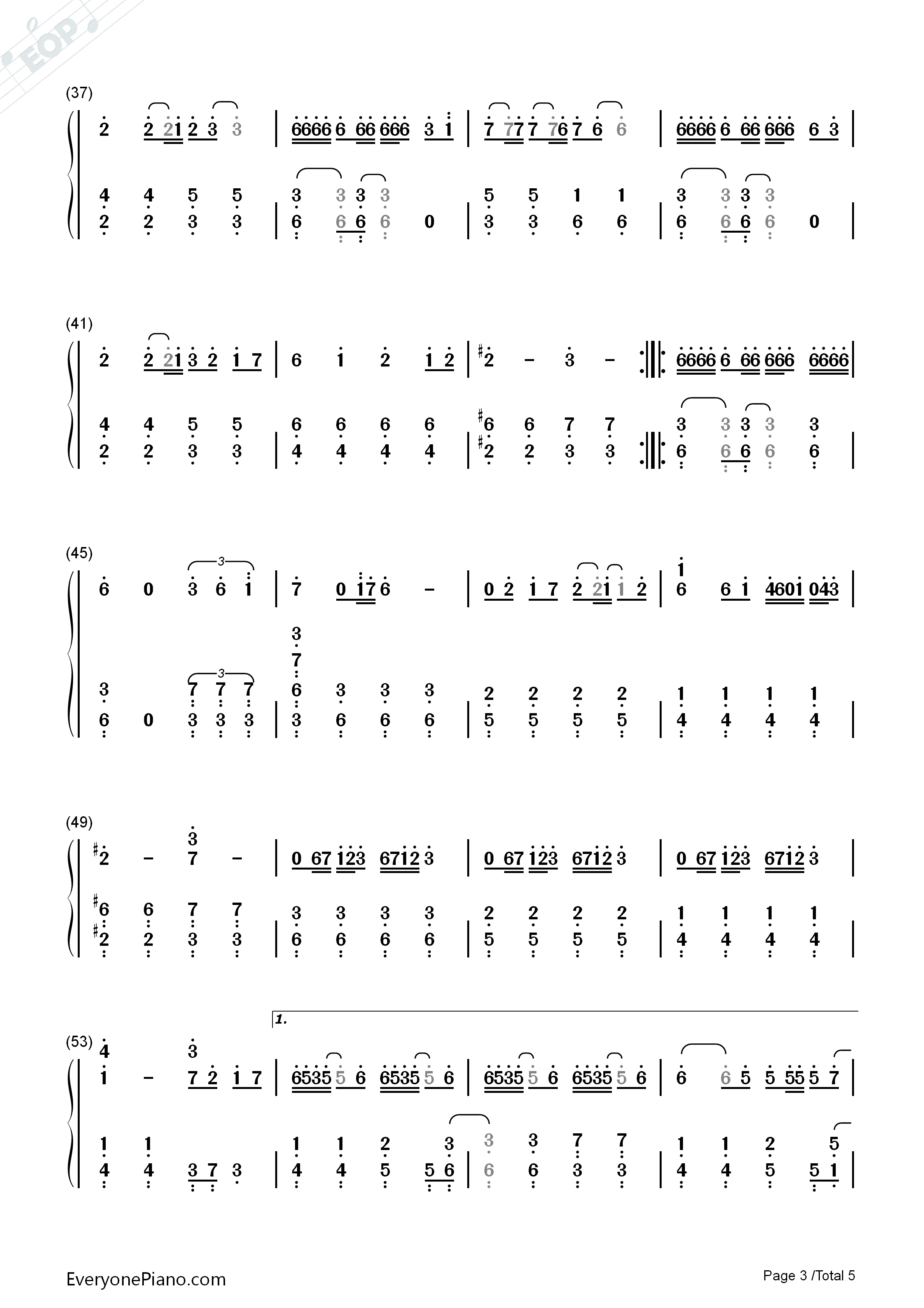 Memeshikute Numbered Musical Notation Preview 3