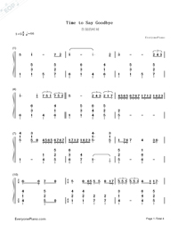 Time to Say Goodbye-Con te partirò-Numbered-Musical-Notation-Preview-1