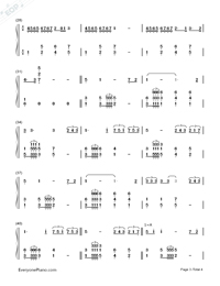 Time to Say Goodbye-Con te partirò-Numbered-Musical-Notation-Preview-3