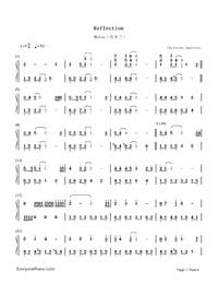 Reflection sheet music pdf