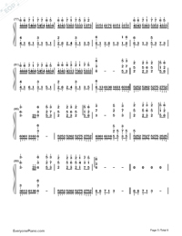 The Valley of the Wind-Numbered-Musical-Notation-Preview-5