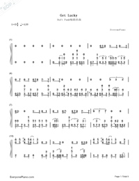 Get Lucky-Daft Punk-Numbered-Musical-Notation-Preview-1