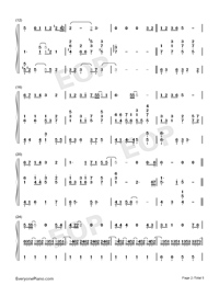 Back in Time-Moon Embracing the Sun OST Free Piano Sheet Music