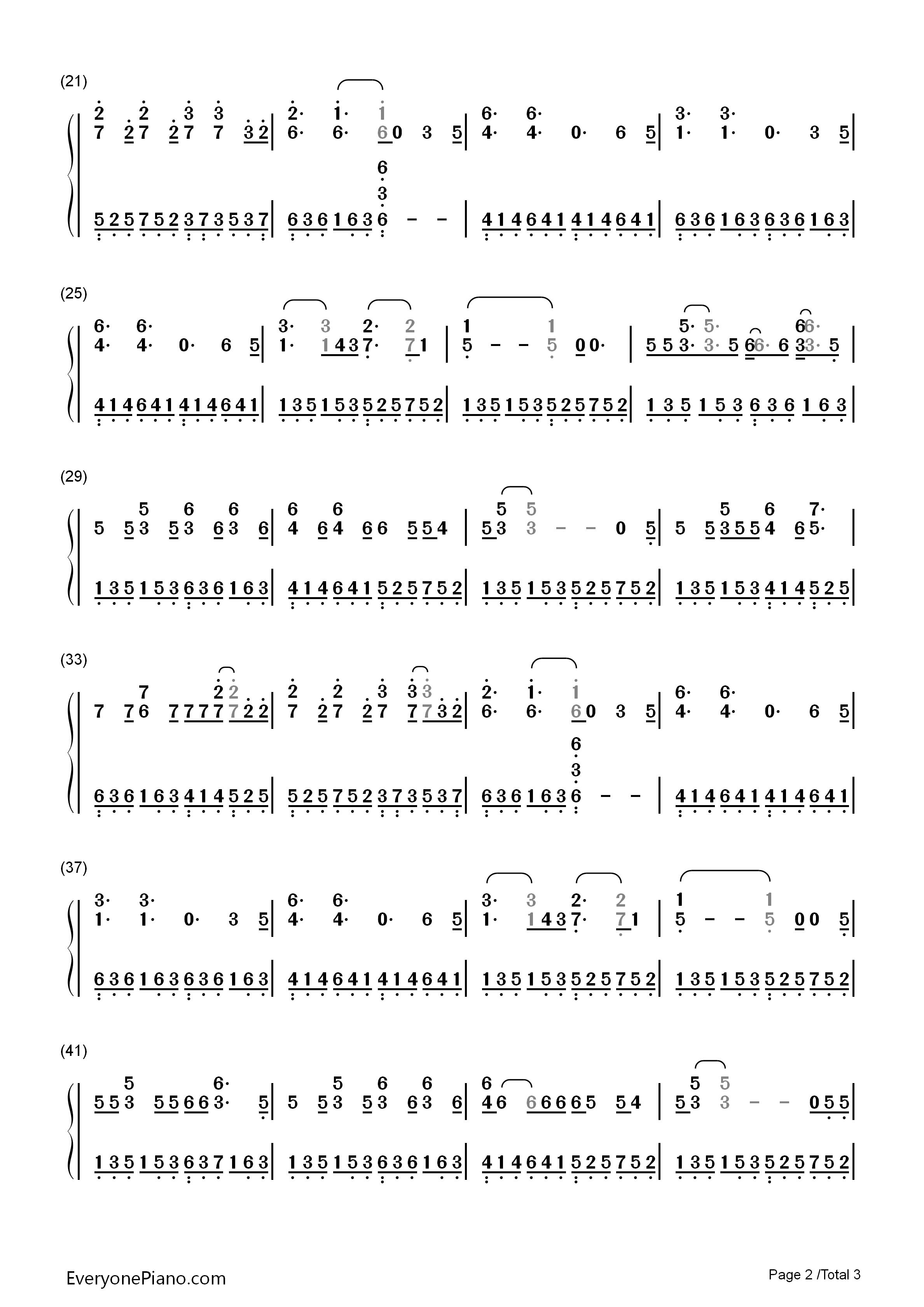 shrek piano sheet music pdf
