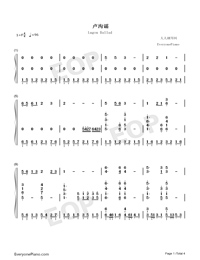 Lugou Ballad-Numbered-Musical-Notation-Preview-1