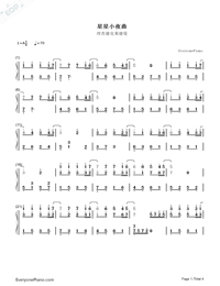 Serenade Deletoile-Numbered-Musical-Notation-Preview-1