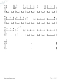 Serenade Deletoile-Numbered-Musical-Notation-Preview-4