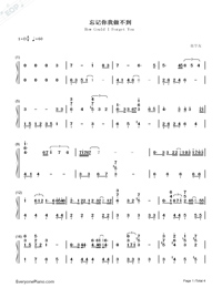 How Could I Forget You Numbered Musical Notation Preview 1