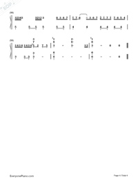 How Could I Forget You Numbered Musical Notation Preview 4