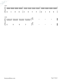 Canon in C Major-Simple Version-Numbered-Musical-Notation-Preview-6