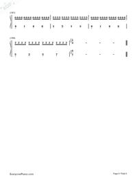 カノン-ハ長調版両手略譜プレビュー6