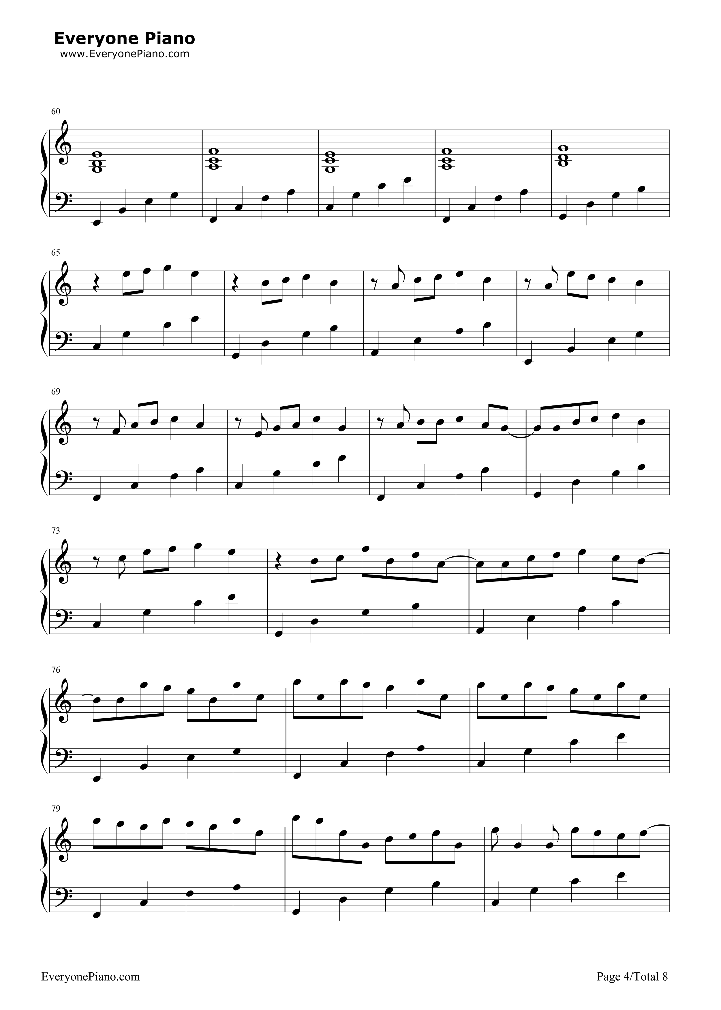 Chords for Canon in C - chordu.com