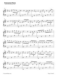 カノン-ハ長調版五線譜プレビュー5