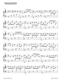 カノン-ハ長調版五線譜プレビュー6
