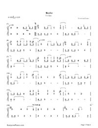 May Be-Yiruma-Numbered-Musical-Notation-Preview-1